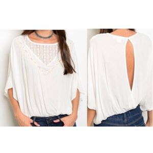 Embroidered Open Back Top | A3